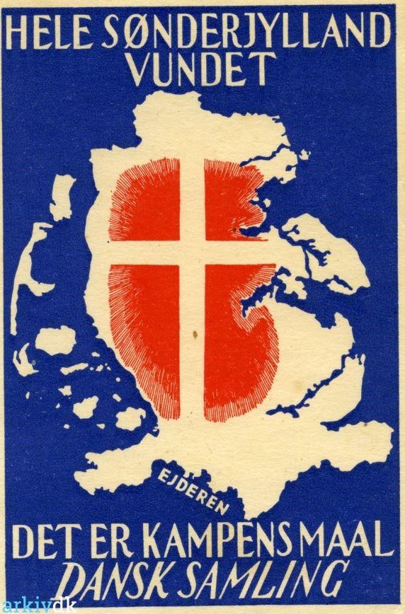Partiet Dansk Samling var en af de organisationer, der i årene efter krigen arbejdede hårdt for, at få grænsen rykket mod syd. © Arkivet ved dansk Centalbibliotek for Sydslesvig.